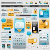 коллекция элементов веб-сайта — Cтоковый вектор