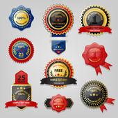 Colección sello y premio — Vector de stock
