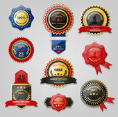Mühür ve ödül koleksiyonu — Stok Vektör