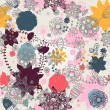 Vector de stock : Floral seamless pattern