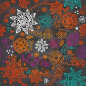 Patrón floral transparente — Vector de stock