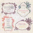 Stock vektor: Invitation cards with a floral pattern