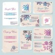 Business style templates with flowers. - Vettoriali Stock