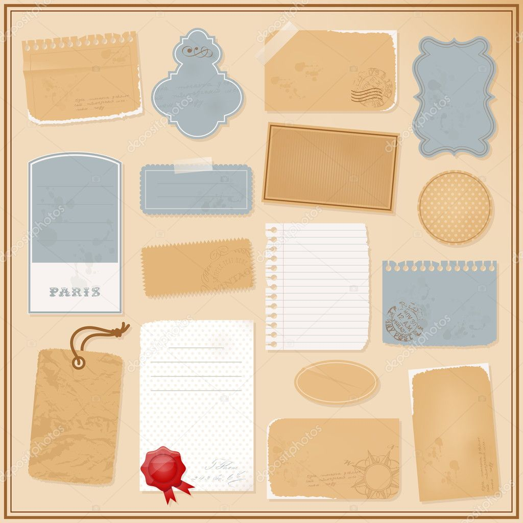Different paper objects for your design — Stock Vector #6716088
