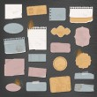 Stock Vector: Different paper objects for your design
