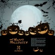 Halloween illustration — Vector de stock #6742944