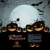 Ilustración de halloween — Vector de stock