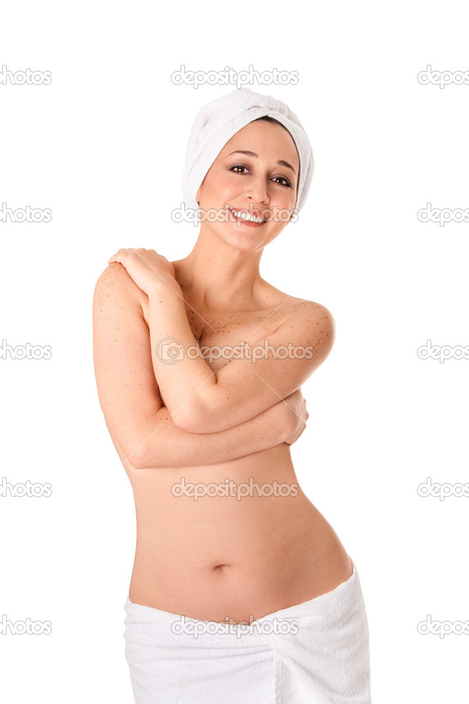 Woman in towels at Spa or Bath | Stock Photo © Paul Hakimata