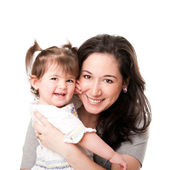 Happy mother baby daughter family — Stock Photo