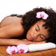 Beauty health day spa - hot stone massage — Stockfoto