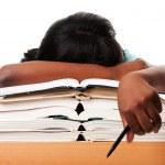 Tired of homework studying — Stock Photo