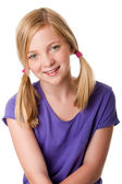 Cute happy teenager girl — Stock Photo