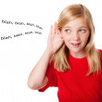 What kids hear — Stock Photo