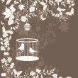 Royalty-Free Stock Vector Image: Vintage cage