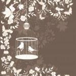 Vintage cage — Stock Vector