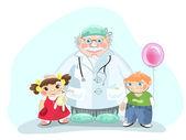 Pediatrician — Stock Vector