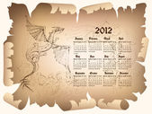 Dragon kalender 2012 — Stockvector