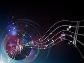 Nota anahtarı, müzikal kompozisyon — Stok Vektör