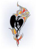 Tatuaje del dragón — Vector de stock