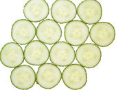 Cucumber slices arrranged in a pattern. — Stock Photo