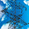 Stock Photo: Symbol of energy industry - High voltage pylon