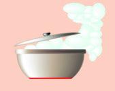 Modern saucepan — Stock Vector