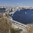 Kiev and Dnepr - Stock Photo