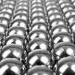 Metal gray balls — Stock Photo