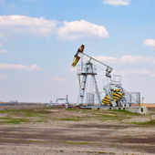 Oil derrick — Stock Photo