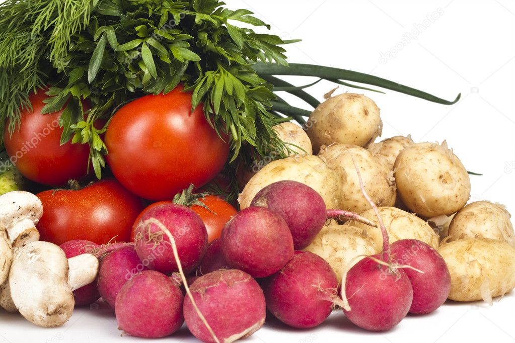 Fresh vegetables on the white background  — Stock Photo #5747394