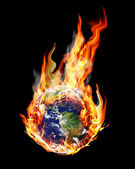 Globe fire — Stock Photo