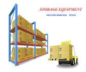 Storage equipment. — Stock Vector