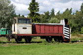 Old railway car for carrying goods — Stock Photo