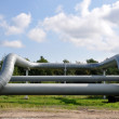 Bend of the pipeline — Stock Photo