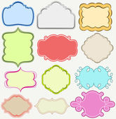 Cute frames collection — Stock Vector