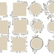 Doodle frames collection - Vektorgrafik