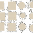 Doodle frames collection - Vettoriali Stock