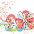 Vector de stock : Cute floral background