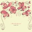 Romantic invitation floral panel — Image vectorielle