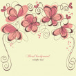 Romantic invitation floral panel - Imagen vectorial