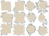 Doodle frames collection — Stock Vector