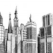 Royalty-Free Stock Vectorielle: Urban generic architecture sketch