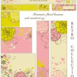 Royalty-Free Stock Vector Image: Retro floral banners; standard web size