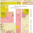 Retro floral banners; standard web size — Stock Vector #5456288