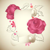 Romantic vintage roses background — Stock Vector