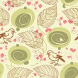 Royalty-Free Stock Vector Image: Cute bird floral seamless pattern
