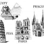 Постер, плакат: Famous landmarks