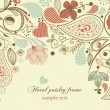 Floral frame, paisley motif - Imagen vectorial