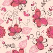 Pink romantic seamless pattern — 图库矢量图片