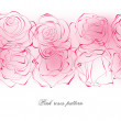 Delicate pink roses pattern — Stock Vector